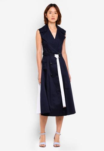 Haute Kelly navy Mina Two Way Trench Dress 6B984AAD628C55GS_1