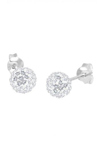 Elli Germany white Perhiasan Wanita Perak Asli - Silver Anting Sparkling Crystal EL948AC37FVUID_1