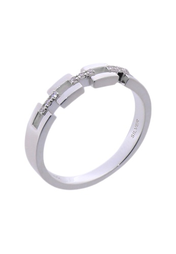 The LoveMark silver Endearing Ring with Artificial Diamonds for Men TH516AC40VFVPH_1