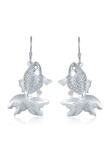 MBLife silver 925 Sterling Silver Goldfish Earrings AF5F9AC4320B6BGS_1