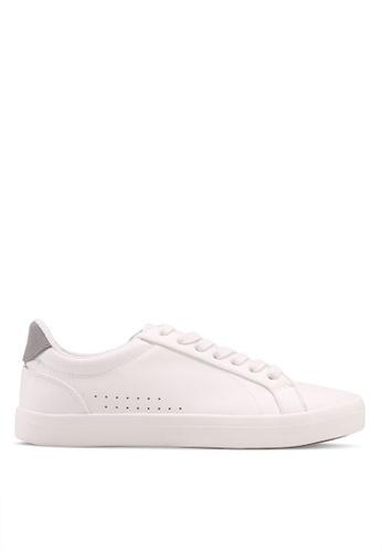 Burton Menswear London white White Leather Look Trainers 52217SHCB65915GS_1