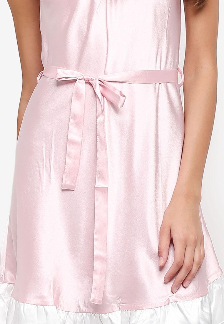Satin Pink Night Dress Impression Satin Impression SwHqExxz