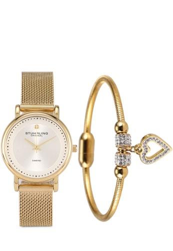 Stuhrling Original silver and gold Symphony 4005 Watch & Bracelet Set AA202AC9CA5C01GS_1