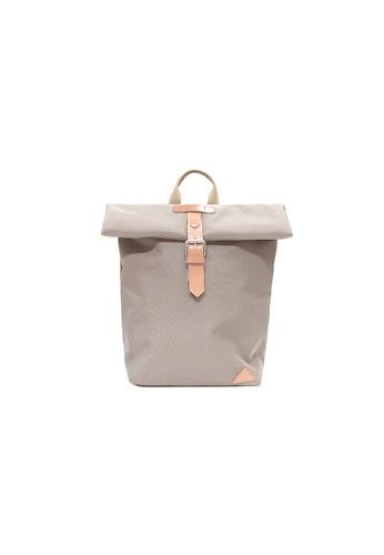 "Samuel Ashley white Samuel Ashley Brooklyn Leather Nylon 13"" Laptop Backpack - Ivory DAA8EACF8F6F5EGS_1"