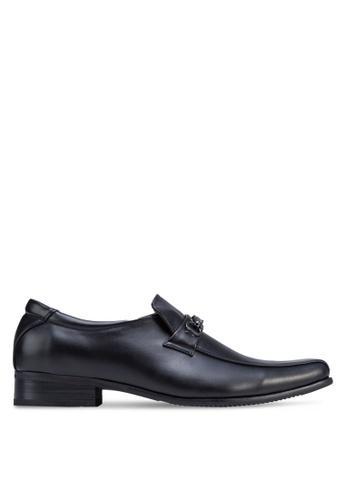 Louis Cuppers black Smart Dress Shoes LO977SH32DSHMY_1