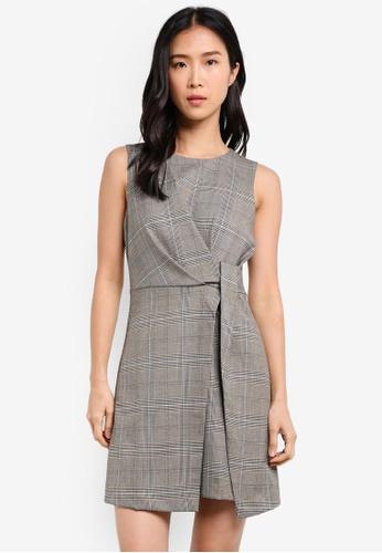 Mango grey Houndstooth Dress MA193AA0SD17MY_1