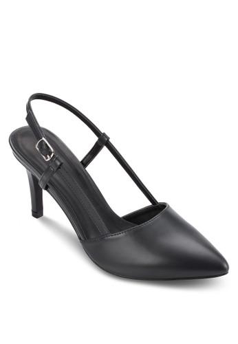 尖頭繞踝基本款高跟鞋, 女鞋esprit hk分店, 鞋