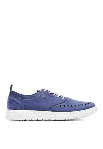 Life8 blue Lightweight Nubuck Punching Shoes LI286SH11FBOMY_1