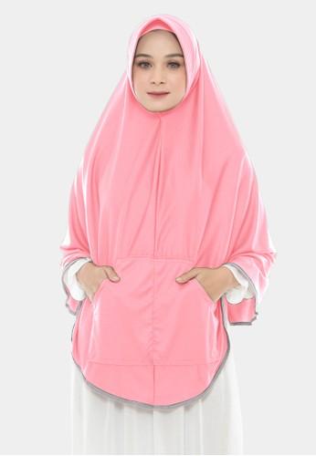 zelena pink Khimar Instan Saku Bergo Instan Kerudung Syari Jumbo - Ballet Pink A7436AA2825226GS_1