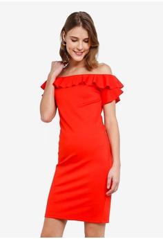 43f9cf25d45d Vero Moda red Jane Off Shoulder Short Dress 21978AA25D89EDGS 1