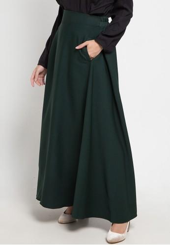 Indij green Lora Skirt B67ACAA1C236CBGS_1