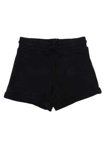 FOX Kids & Baby black Black Plain Knit Shorts 2749FKA50BA648GS_1