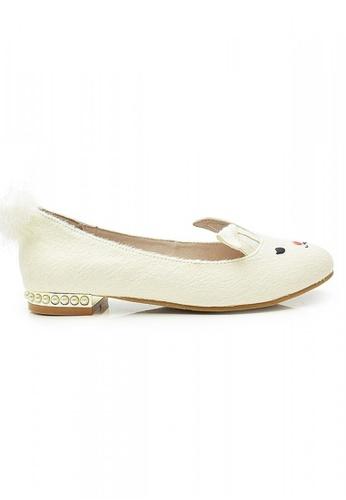 Elisa Litz white Bunnie Flats (White) EL365SH73ZFISG_1
