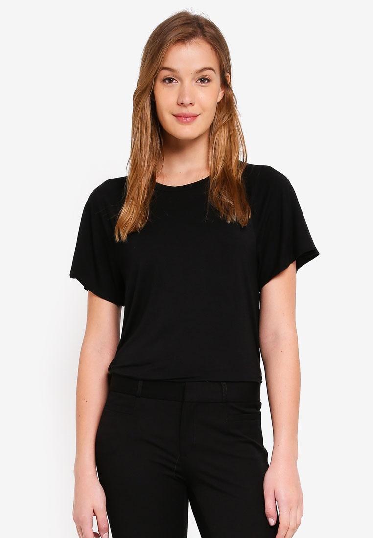 Banana Republic T Black Flutter Shirt Sleeve 44dxAwrv