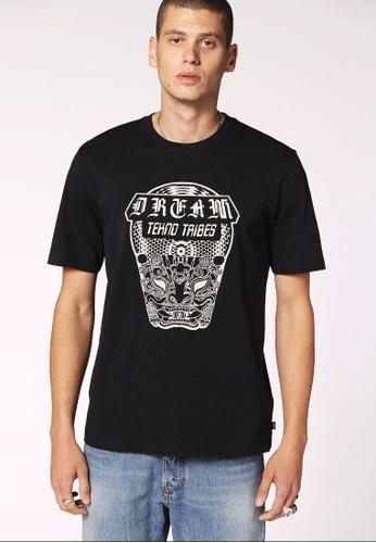 Diesel black T-Just-Wn Tshirt 1C586AA132D92DGS_1