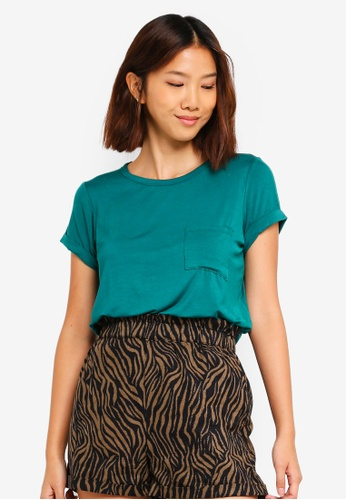 Cotton On green Kathleen Short Sleeve Top 97DC4AA94A7A1FGS_1