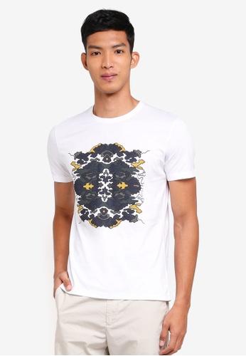 Sisley 白色 VAN ORTON聯名款普普風短袖T恤 0675FAAE04DEC3GS_1
