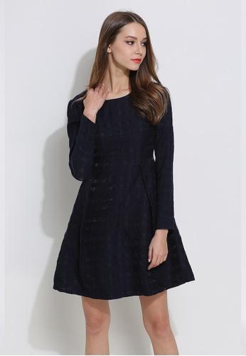 Sunnydaysweety blue S/S HK Designer 's Plaid Slim One - Piece Dress S20050876 BA3D2AAEE6A532GS_1