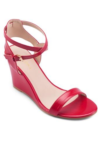 楔型高跟多帶涼鞋, 女鞋, 楔形zalora 衣服尺寸涼鞋