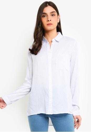 OVS white Viscose Shirt With Pocket 7FFFDAAA23ED57GS_1