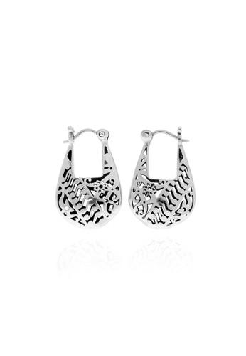 Bhinneka Silver Hoop Earrings