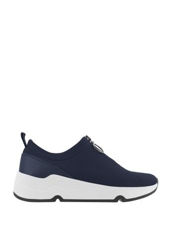 CO BLANC blue CO BLANC Zip Detail Sneakers F3131SH4127679GS_1