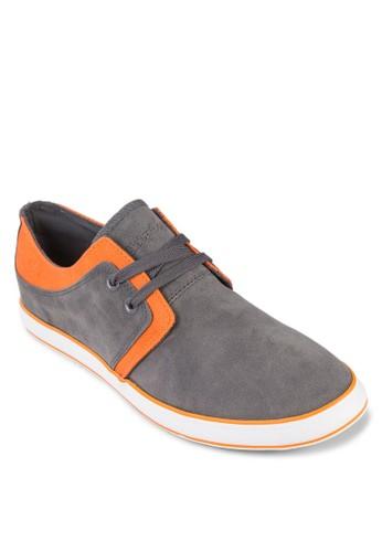 Franky 繫帶麂zalora 衣服尺寸皮休閒鞋, 鞋, 鞋