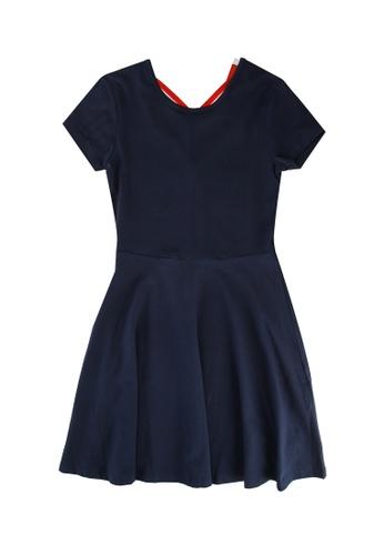 FOX Kids & Baby navy Cross Back Dress 426F9KAD8FB8B2GS_1