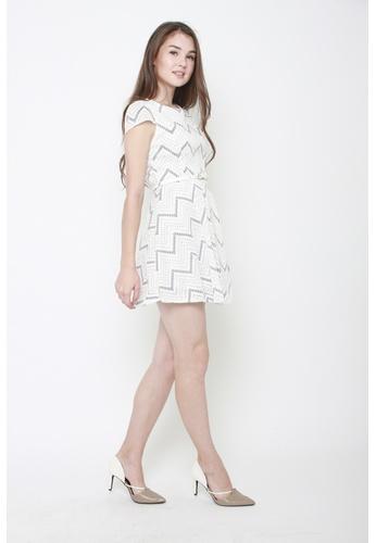 Sophialuv white Ziggety Zag Work Dress 66DACAA641B8D5GS_1