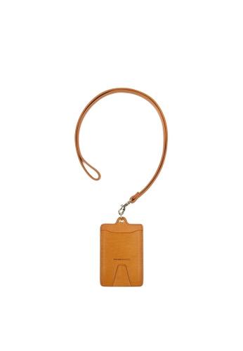RABEANCO brown RABEANCO Clipper Strap Card Case - Camel AF5CBACFA6EE41GS_1
