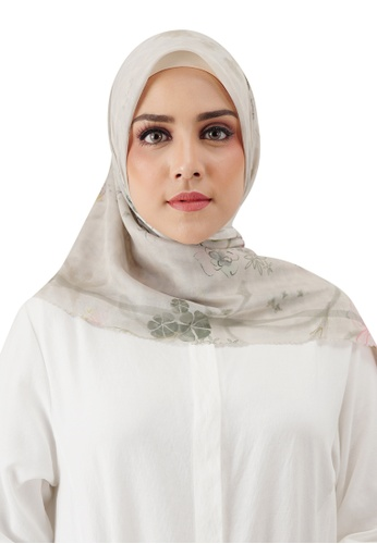 Buttonscarves white Buttonscarves Sofya Voile Square Coriander D1957AAFA09F12GS_1