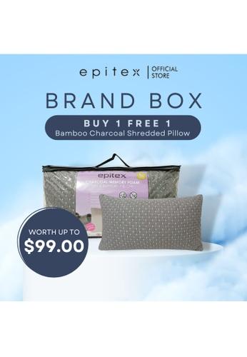 Epitex white Epitex Charcoal Shredded Memory Neck Support Pillow 1+1 Promo ( 2 for $49) 419C1HL4CC4E5AGS_1