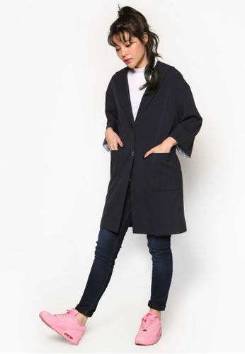 水手風寬版單鈕外套, 服飾esprit 包, 外套