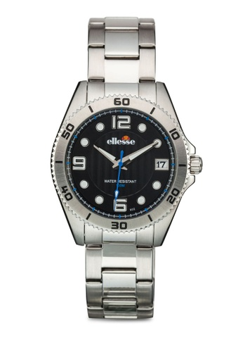 ellesse black and silver Men's Analogue Quartz Bracelet Watch EL595AC06AMJSG_1