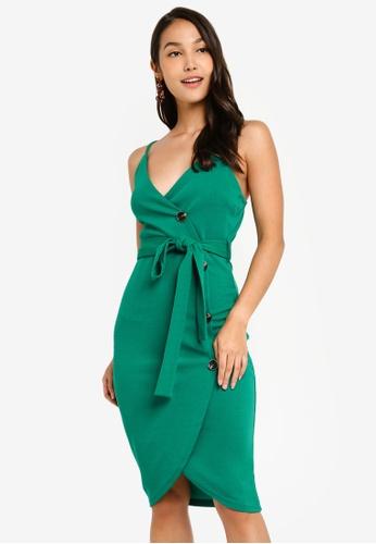AX Paris green Button Front Detail Dress D6001AA769C9D1GS_1