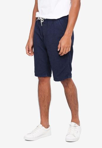 ESPRIT 海軍藍色 休閒素色短褲 75825AA2E41845GS_1