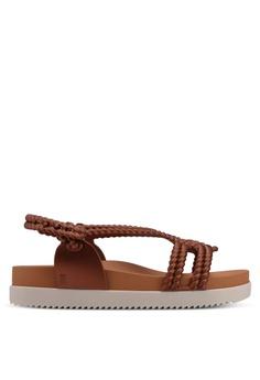 8915b9f1603be5 Melissa beige Melissa Cosmic Sandal + Salinas Ad Sandals ME121SH0STK1MY 1