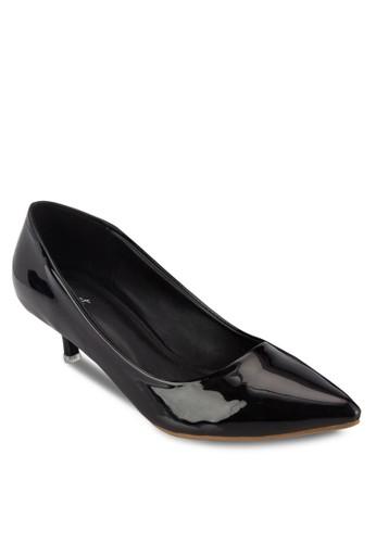 漆面尖頭esprit高雄門市低跟鞋, 女鞋, 厚底高跟鞋