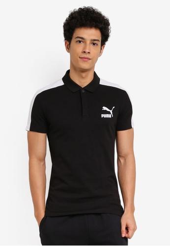 Puma black Archive T7 Polo Tee PU549AA0SWHAMY_1