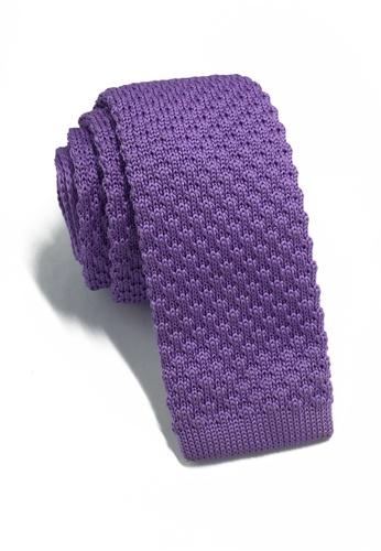 Splice Cufflinks Interlace Series Light Purple Knitted Tie SP744AC04KSPSG_1