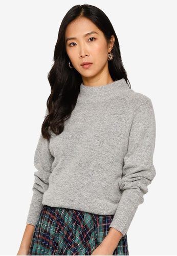 niko and ... grey High Neck Pullover Sweater 5DFC7AA191000AGS_1