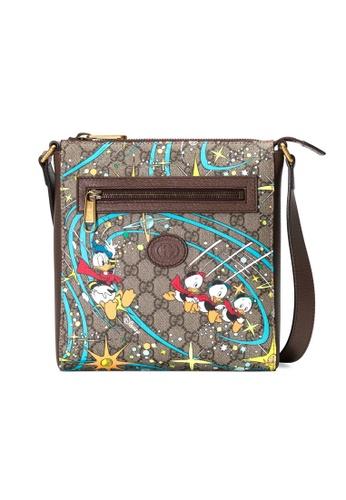 Gucci multi Gucci Disney X Donald Duck Messenger Bag in Beige/Ebony 613BBAC6C35770GS_1