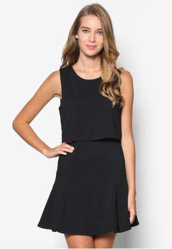 層次無袖連身裙, 服飾, esprit專櫃洋裝