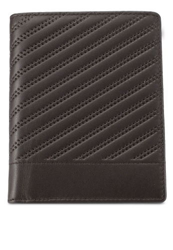 ZALORA brown Quilted Real Leather Wallet E4DECZZ8EB6C9CGS_1