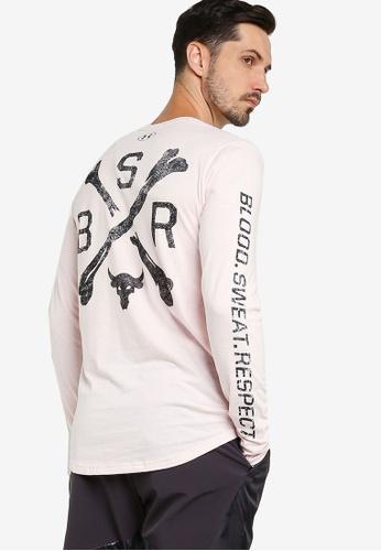 Under Armour pink UA Project Rock BSR Long Sleeve Tee 1DE55AAA639CA0GS_1