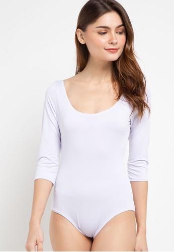LLACES CLOTHING white Short Sleeve Bathing Suit EF9EDUS28F996CGS_1