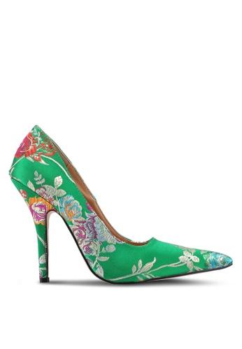 Public Desire green Tease Stiletto Court Heels B9B0FSH2CD0F97GS_1