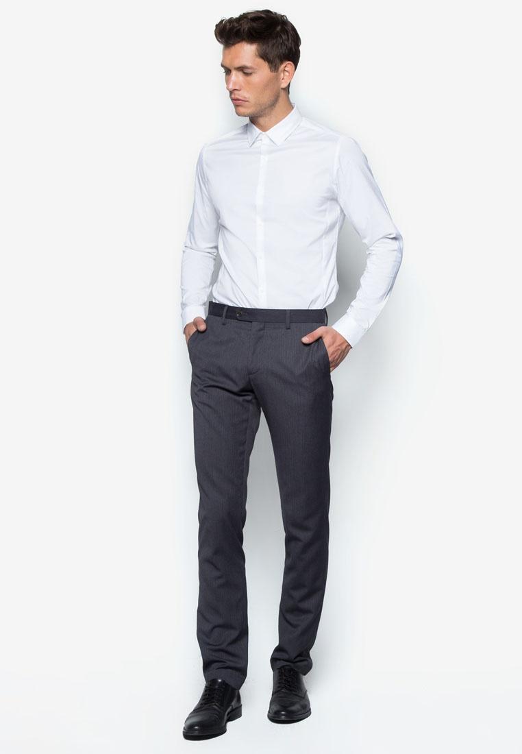 Long Smart Topman Shirt White Stretch Sleeve White d0qnPwxgzd
