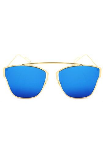 Maldives Eyewear blue and gold Khaleesi Modern Flat Lens Ultra Light Metal Frame Sunglasses 802-14-Y MA573GL25IMSPH_1