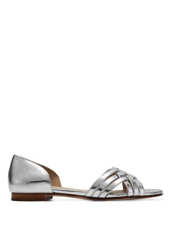 RABEANCO 銀色 RABEANCO KIRA 平底涼鞋 - 金屬銀色 F64A6SH35CAE15GS_1
